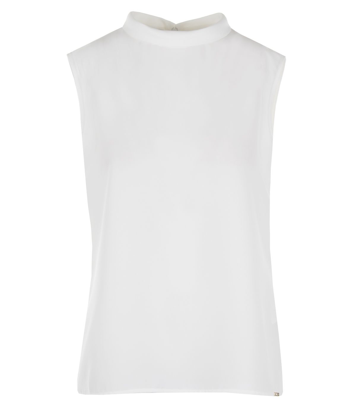 Sleeveless blouse with stand-up collar 0