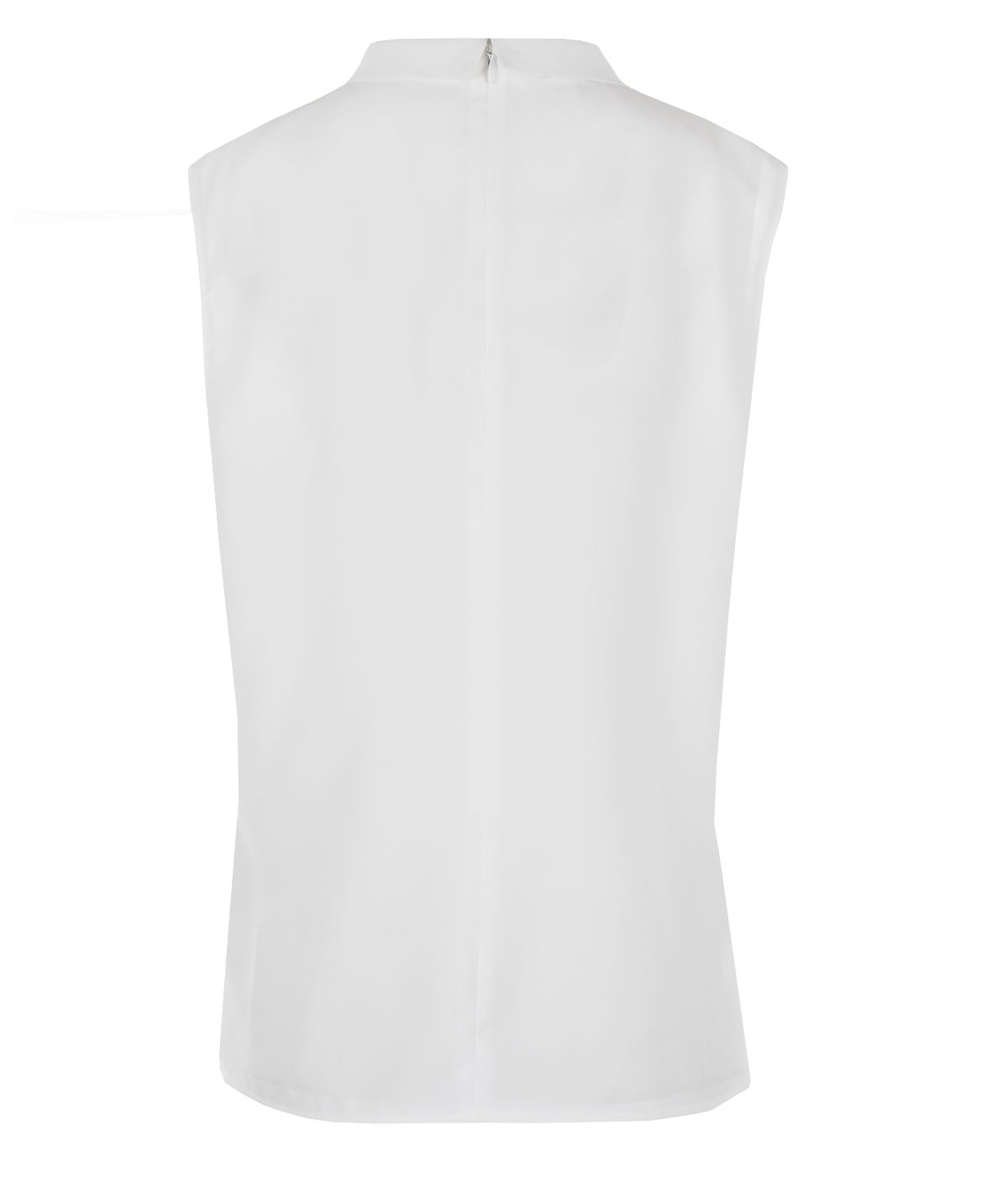 Sleeveless blouse with stand-up collar 1