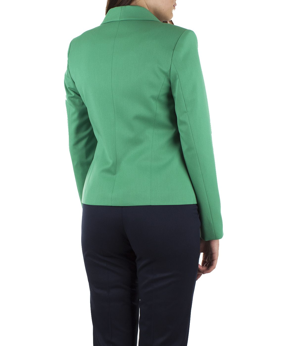 Fitted jacket with lapels and buttoning with pearl-type button 3