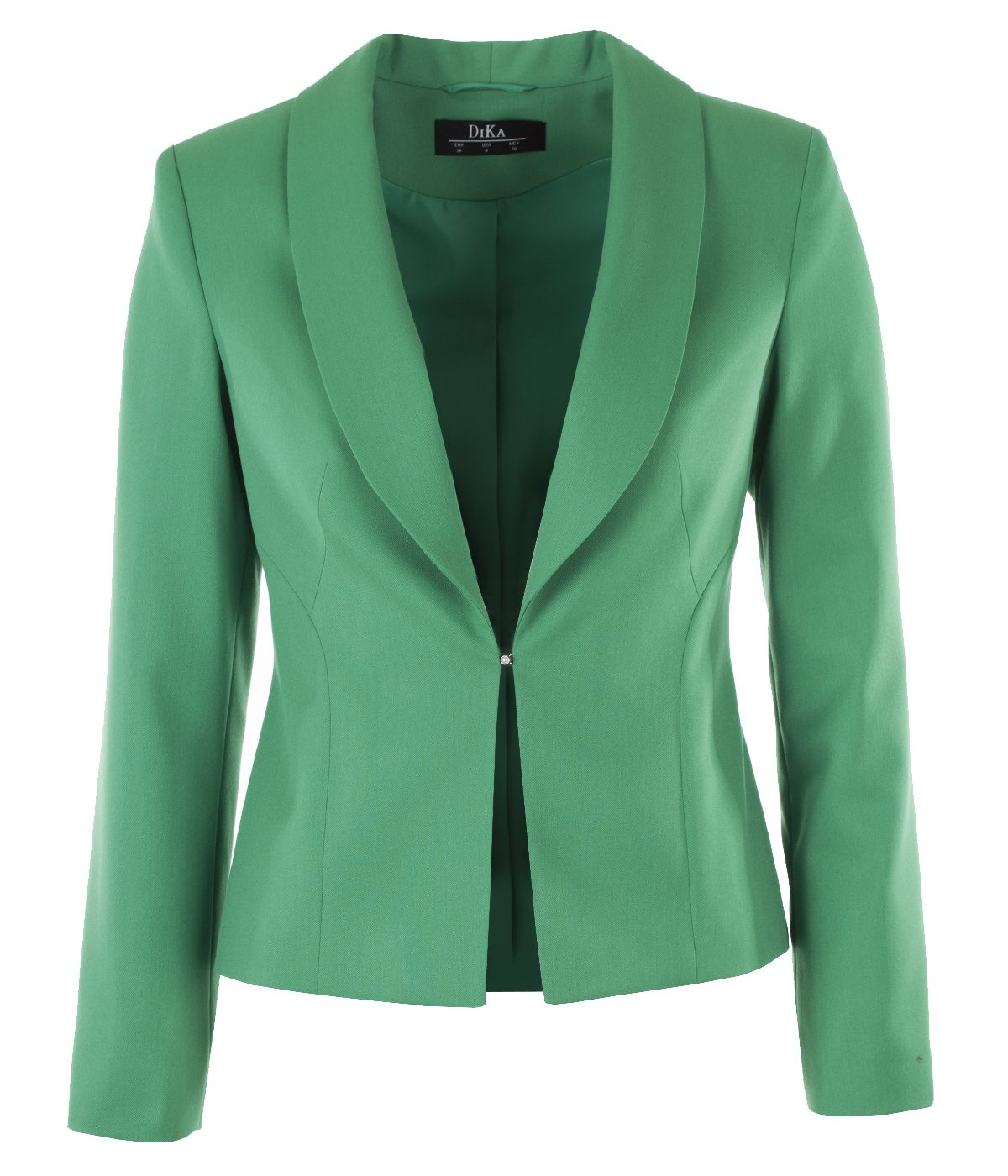 Fitted jacket with lapels and buttoning with pearl-type button 0