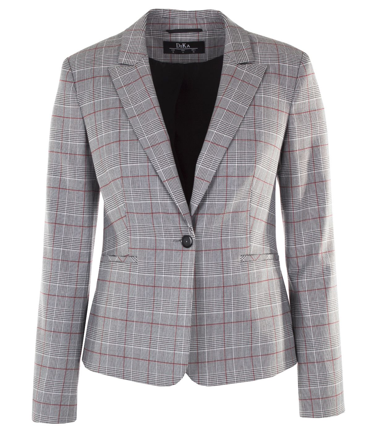 Fitted single-breasted jacket with lapels 0