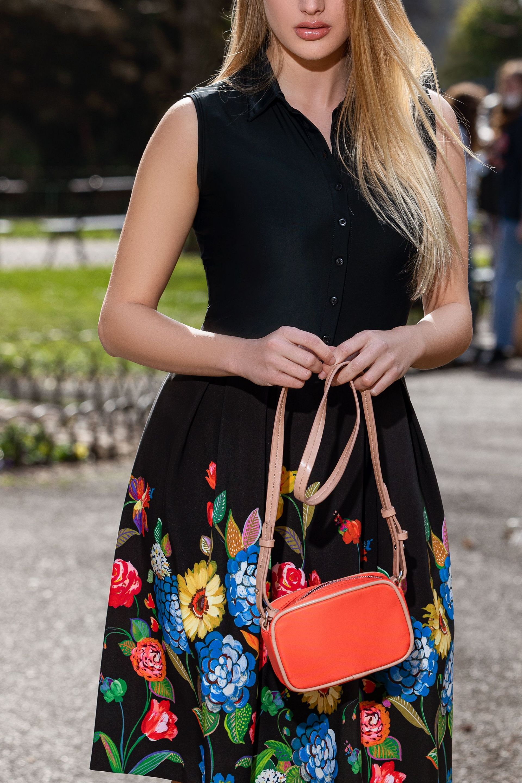 Skater skirt with floral print 3
