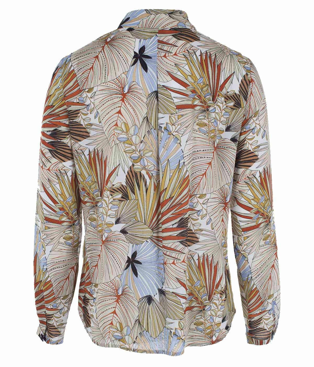 Viscose shirt with tropical print 1