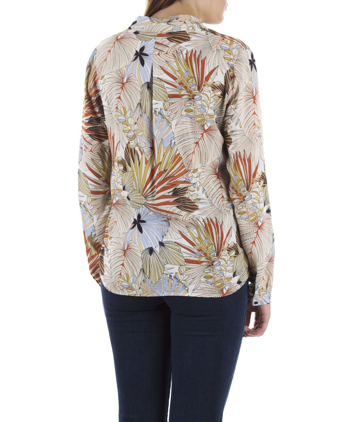 Viscose shirt with tropical print 3
