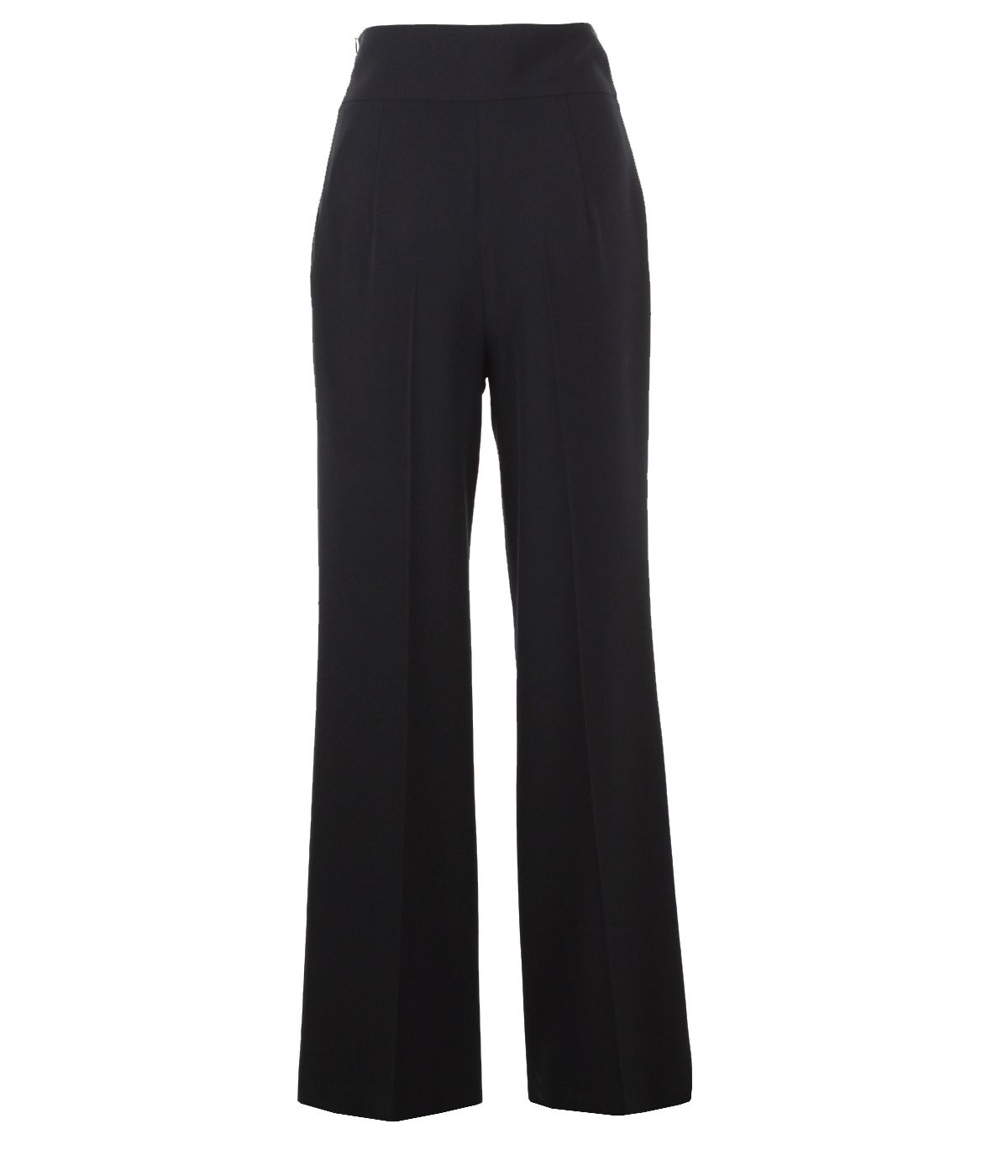 Wide-leg trousers with decorative buttons on the waist 1